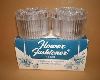 Flower Fashioner No. 650, 2 Flower Arrangers, Gadjo Flower Frog, Candle Holder in Original Box