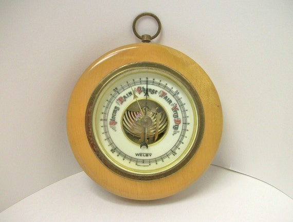 Vintage Welby Barometer Made in Germany Porcelain Faceplate