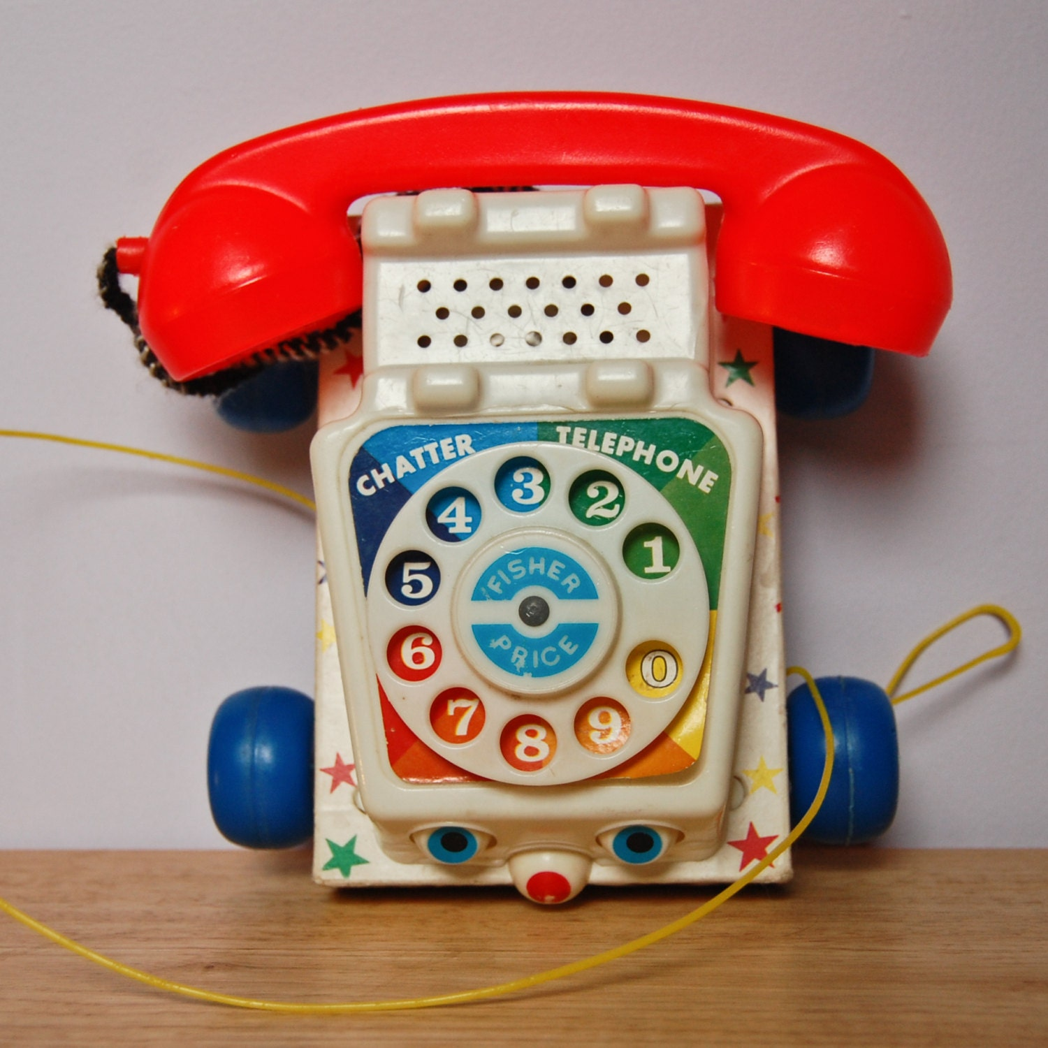 1961 fisher price chatter telephone classic toy by shefindsvintage. Black Bedroom Furniture Sets. Home Design Ideas