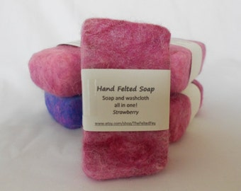 Felted Soap Strawberry
