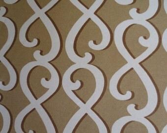 Outdoor / Indoor Pillow Cover  Tan Brown Cream Swirl Print