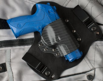 Beretta PX4 Storm Carbon Fiber Kydex Leather Hybrid Gun Holster IWB Concealed Carry