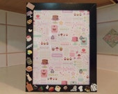 SWEET PASTRY CHEF 8 1/2 X 11 Themed Picture Frame by Juste Jolie Finished Black Frame