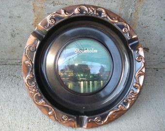 Vintage Stockholm Sweden Souvenir Ashtray