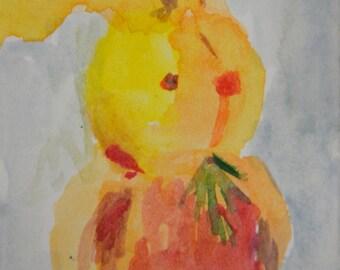 Original ACEO Watercolor Painting: My Bunny No. 6