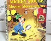 Walt Disney's Mickey Mouse . Little Golden Book for Children. Circa 1980. Bedtime Stories. Disneyana. Minnie Mouse. Mousketeers.