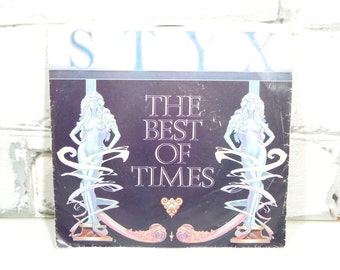 Vintage Styx 45 Record. Circa 1978. Great Rock Groups of the 70's and 80's. What the Cool Kids Listened To. Music Collectibles. Retro Decor.