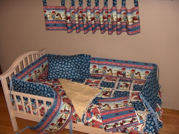 Farmall Tractor Bed Set : International harvester farmall crib bedding set rag quilt