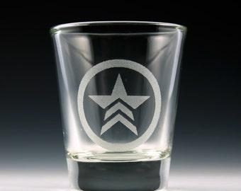 Mass Effect Renegade Symbol Shot Glass