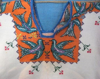 Cross-stitched Huipil from Cuenjajo Michoacan