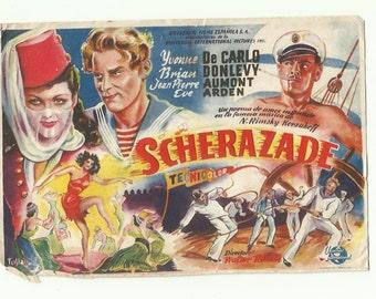 Free shipping-Vintage film flyer - Scherazade