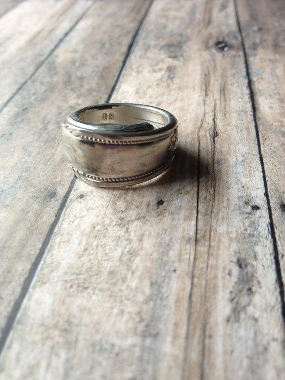 simple promise vintage fork ring by mithrilrosedesigns on etsy