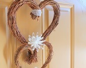 Two of Hearts - Grapevine Wreath