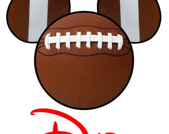 custom personalized disney mickey football iron on transfer decaliron on transfer not digital download