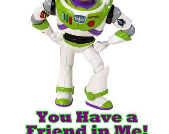 Disney Shirt Friend in Buzz Lightyear Personalized Custom Iron on Transfer Decal(iron on transfer, not digital download)