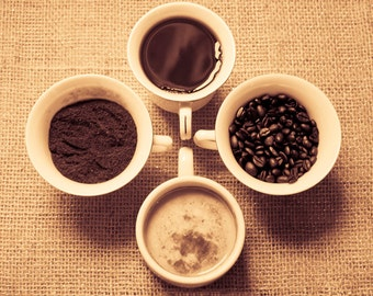 Coffee Photography Digital Download Fine Art Photography art for kitchen coffee art kitchen decor