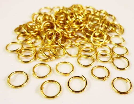 Gold Jump Rings 6mm Gold Tone Iron Metal 25 Gauge Open Jump Ring Jumprings Jewelry Making Jewelry Findings Craft Supplies 100pcs