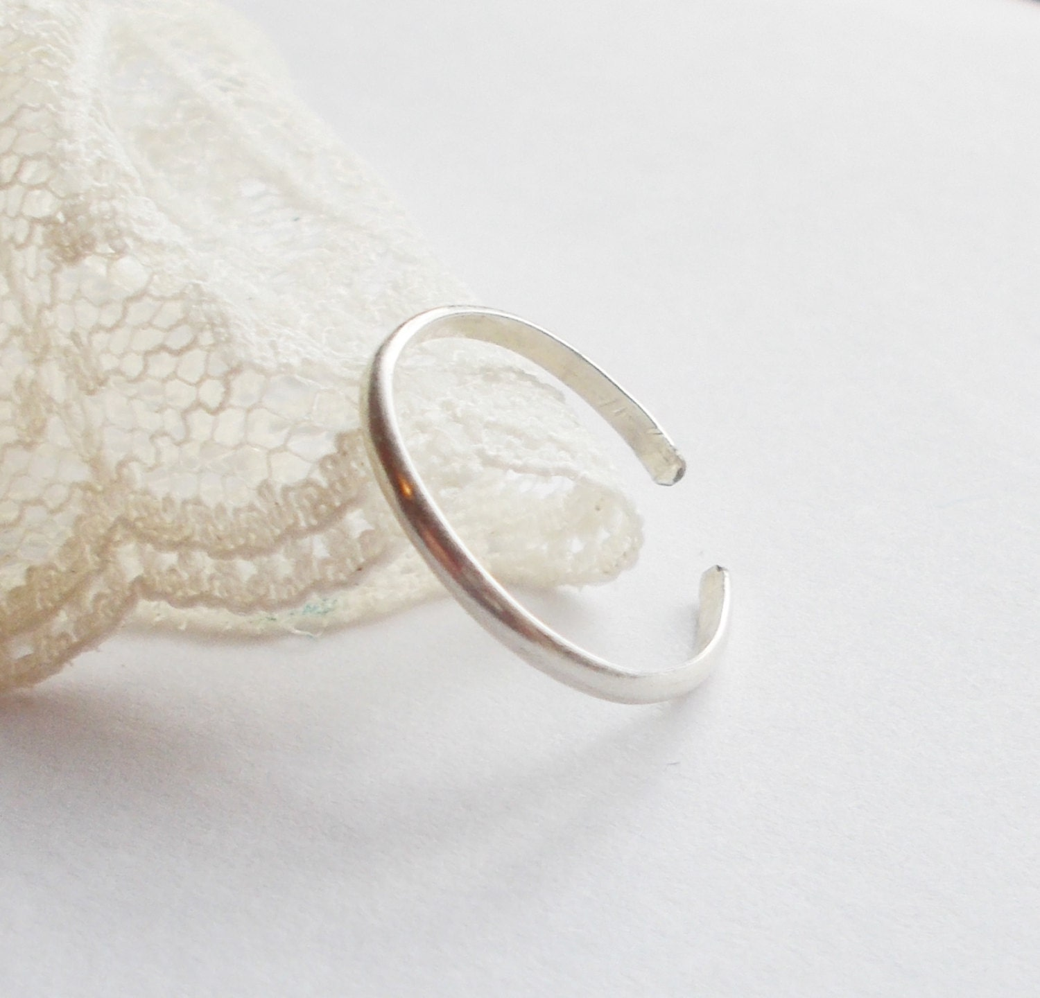 adjustable sterling silver toe ring simple toe by