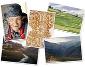 Himalaya - set of 5 glossy postcards 10x15cm with clips