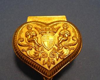 Vintage Heart Shaped Trinket Box