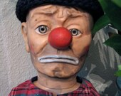 Vintage 1950s EMMETT KELLY Circus Clown Doll by Baby Barry