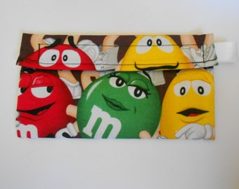 MnM candy resuable snack bag