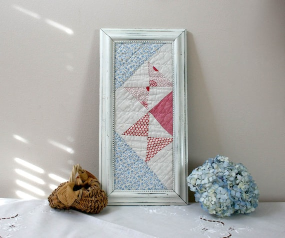 Quilting Room Wall Decor : Cutter quilt in frame framed piece wall decor blue