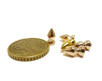 Spike Beads Golden color  - 20 Pcs - 10 x 5mm