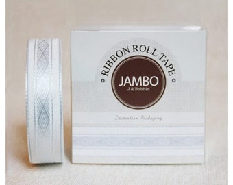 Adhesive Flora Blue ribbon roll deco tape by J&Bobbin