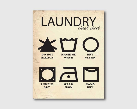Laundry Wall Art Laundry Cheat Sheet by SusanNewberryDesigns