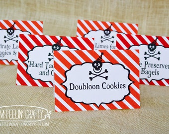 Pirate Party Food Labels- Printable