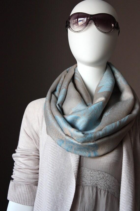 Rose design  Infinity Scarf   ,  pashmina scarves