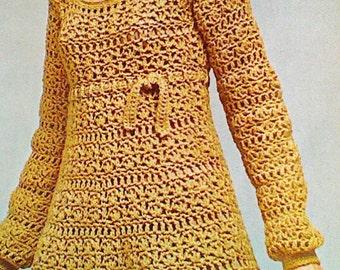 Vintage Crochet Empire Dress Pattern