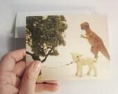 Sacrificial lamb card. Funny card, blank inside.