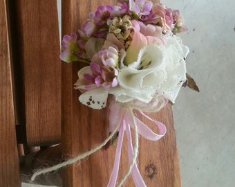 Custom Order Delicate Pink and White Vintage Inspired Posy corsage