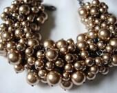 Bronze Chunky Pearl Bracelet