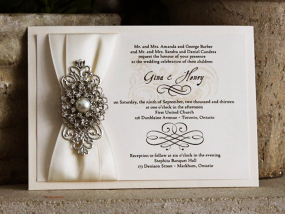 Items Similar To Sale Beautiful Wedding Invitation With