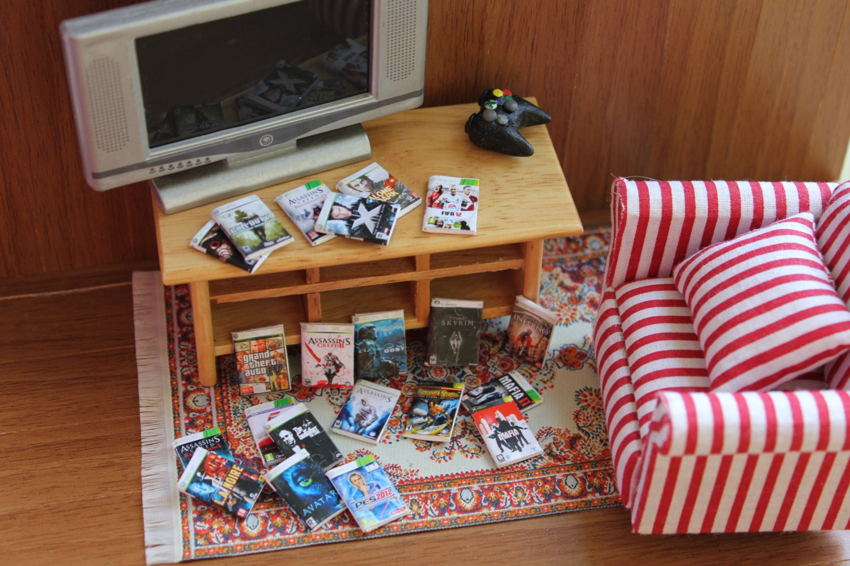 Dollhouse miniature videogames 21 different pieces - Como hacer casas en miniatura ...