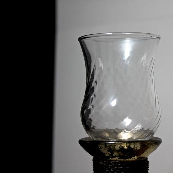 Wall Sconce For Votive Candles : Fluted Glass Hurricane Sconce / Peg Votive Candle Holder