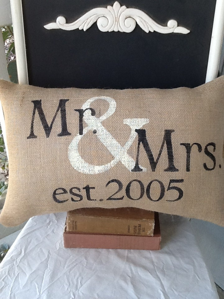 Mr And Mrs Pillow Personalized Pillow Valentines Gift