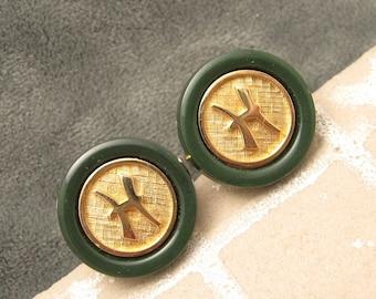 Cufflinks Tie Tack Set Initial H Swank Dynasty Original Box H465