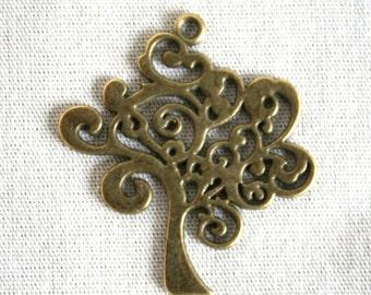 2 Antique Bronze Tree of Life Charm/Pendant