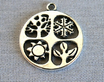 5 Four Seasons -Summer, Winter, Spring and Fall Charms/Pendants
