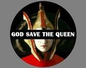 """Star Wars 1.5"""" Button - Queen Amidala"""