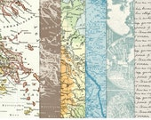 Vintage Maps Paper Pack 2 - INSTANT DOWNLOAD - For Personal & Commercial Use - Digital Designs