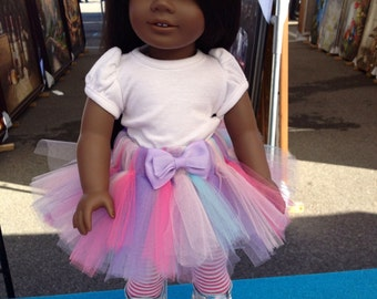 American Girl Doll Tutu Pink, Lavender,Tiffany Blue and White Tutu