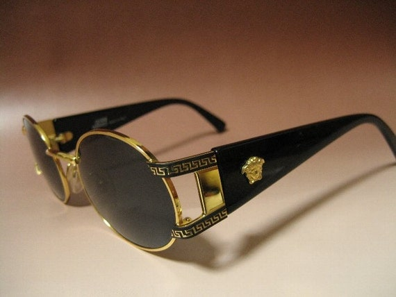 Versace Glasses Gold Frame : Gianni Versace vintage Sunglasses MOD.S60 COL.49L / Metal