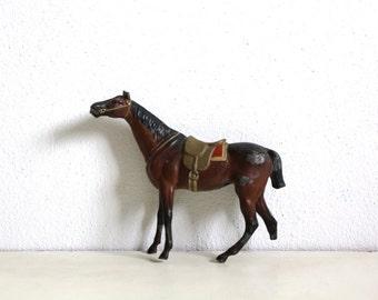 SALE 50 OFF Vintage Cast Metal Horse Sealed Big Toy Three Leg Horse Broken Toy Home Decor