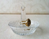 Ring or Jewelry Holder Glass Dish  -Vintage-