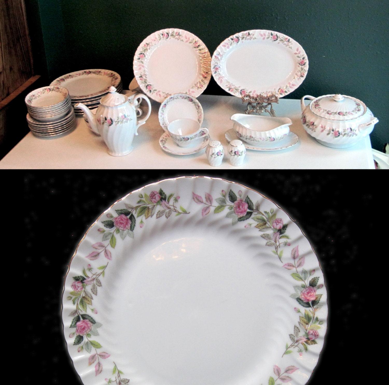 Wedding Cakes Inspired By China Patterns: Wedding China Dinnerware Set 2345 Regency Rose Pattern 46